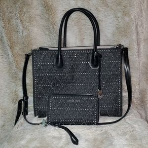 Michael Kors purse with matching wallet